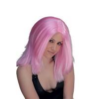 Περούκα  Νιόβη ροζ