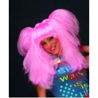 Περούκα Κοτσιδού ροζ